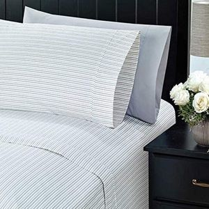 Charisma Grey Print King Size Pillowcases